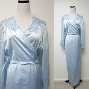 VTG 60s Vassarette blue nylon peignoir XL USmade